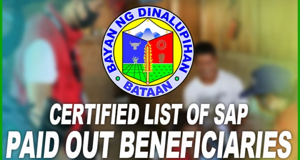 Certified list of SAP Paid Out Beneficiaries